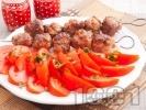 Рецепта Телешки и свински кюфтенца  на шиш с ароматни подправки
